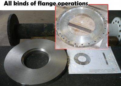 Alle kinds of flange operations